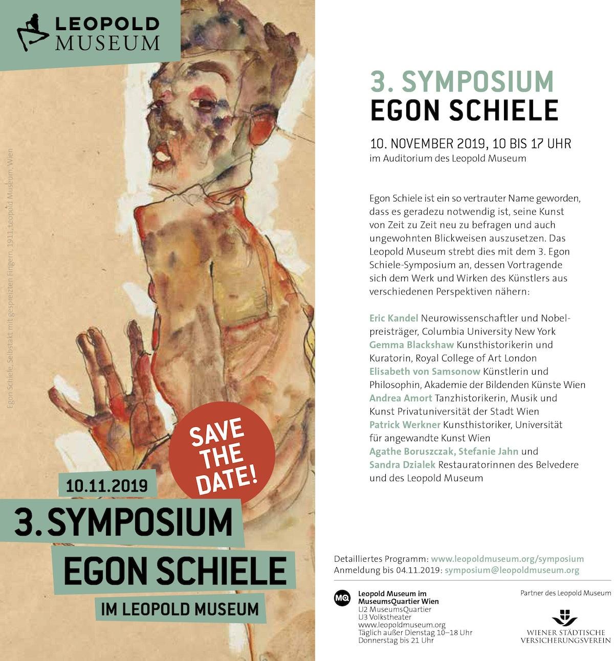 Egon Schiele Symposium10 11 2019